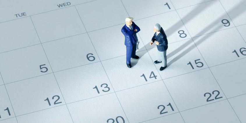 """Kalender mit dem Eintrag """"Verabredung treffen"""""""