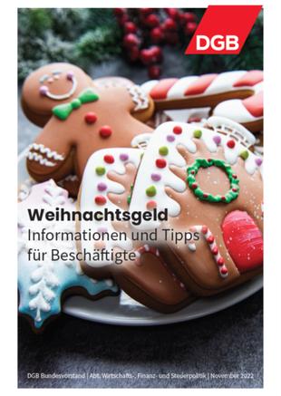 Cover Faltblatt DGB Ratgeber Weihnachtsgeld