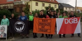 Protest in Oettersdorf