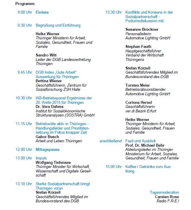 BR und PR Konferenz in Thüringen